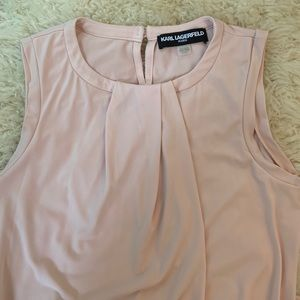 KARL LAGERFELD PINK SLEEVELESS BLOUSE